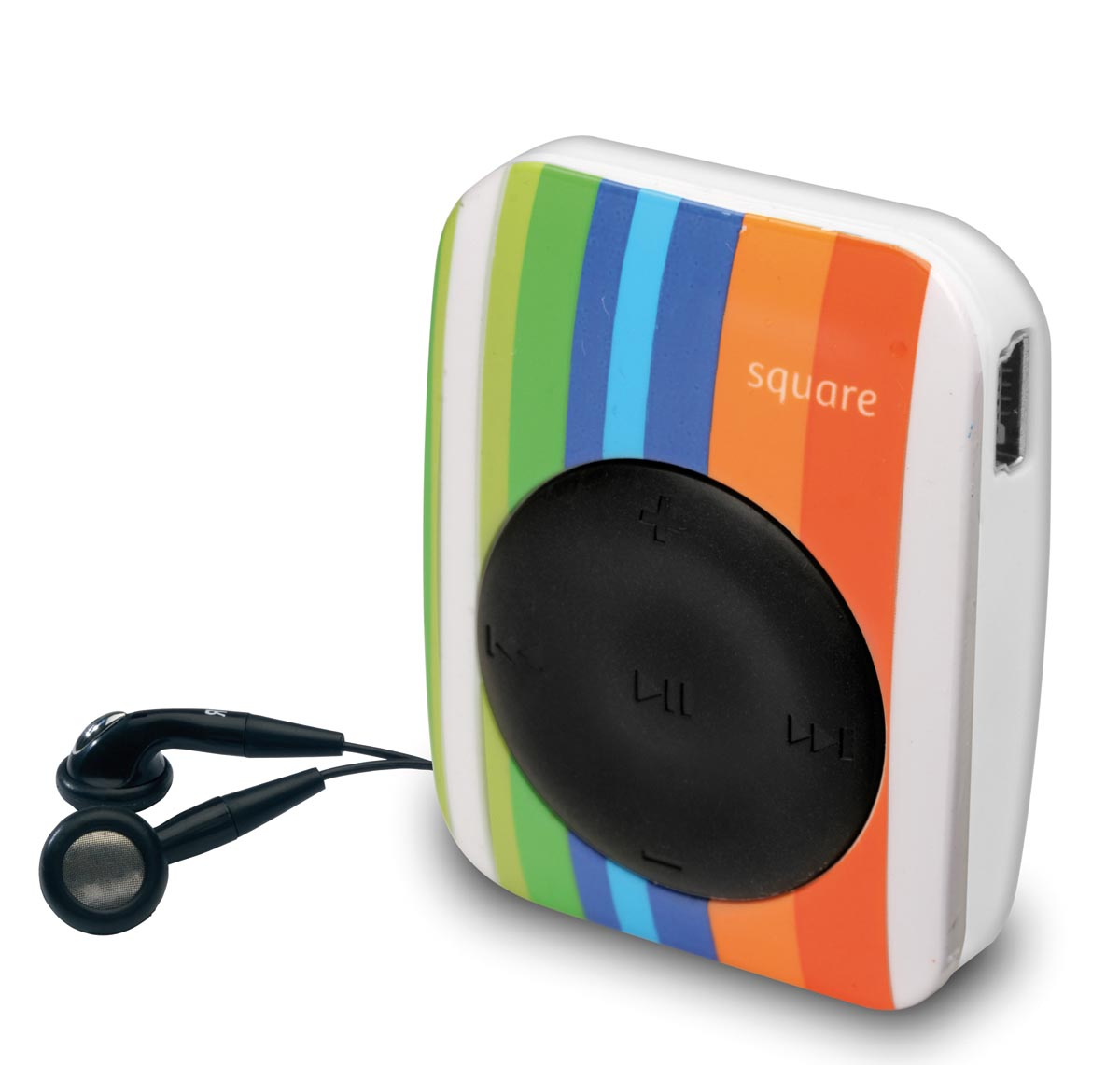 <span>MP3 Square, con auriculares con control de volumen, audio MP3/WMA y puerto USB ($ 199, Noblex).</span></p>