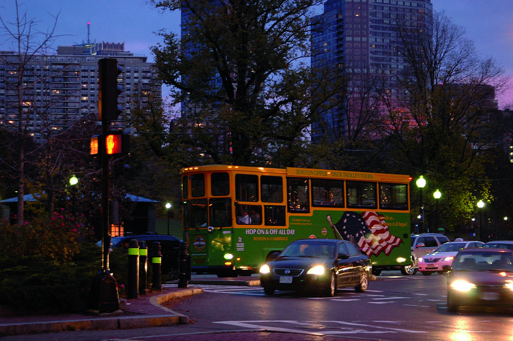 <span>Bus turístico por el Boston Common.</span></p>