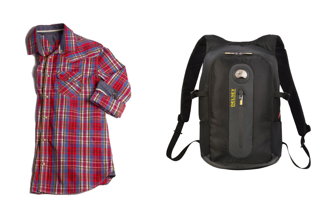 <span>Camisa escocesa ($ 1150, Key Biscayne). Mochila Beaubourg ($ 1360, Delsey).</span></p>