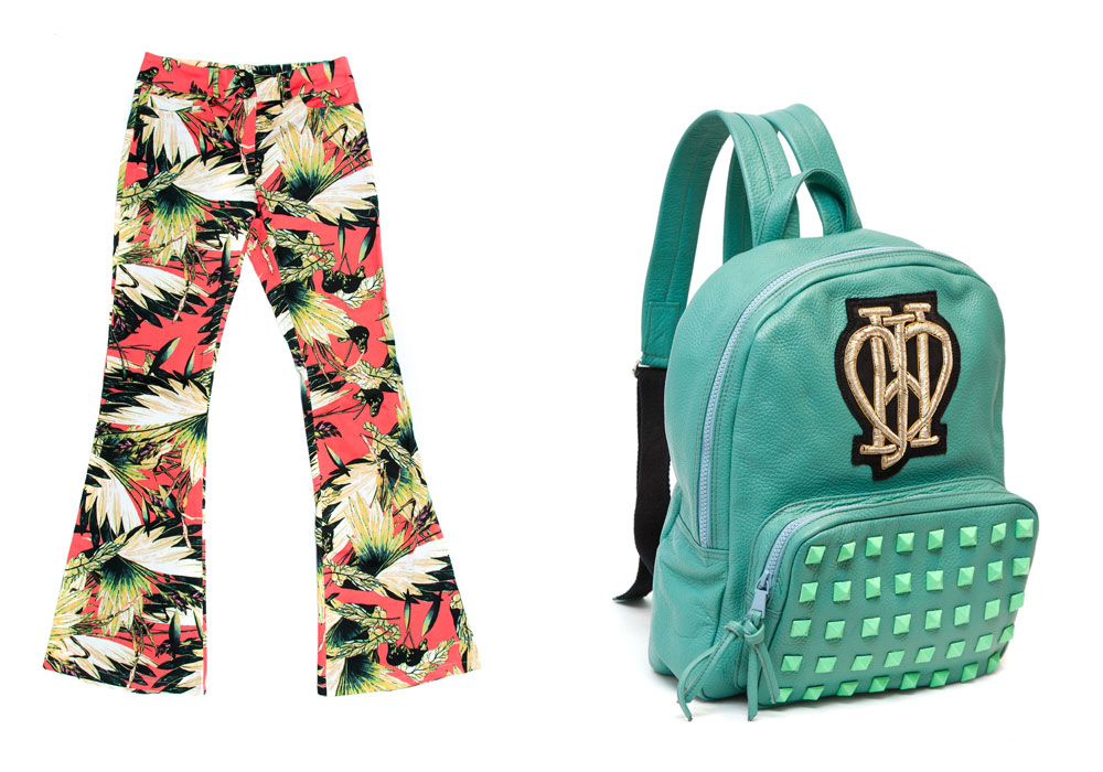 <span>Pantalón tropical ($ 390, Ronée). Mochila Williams ($ 2250, Jazmín Chebar).</span></p>