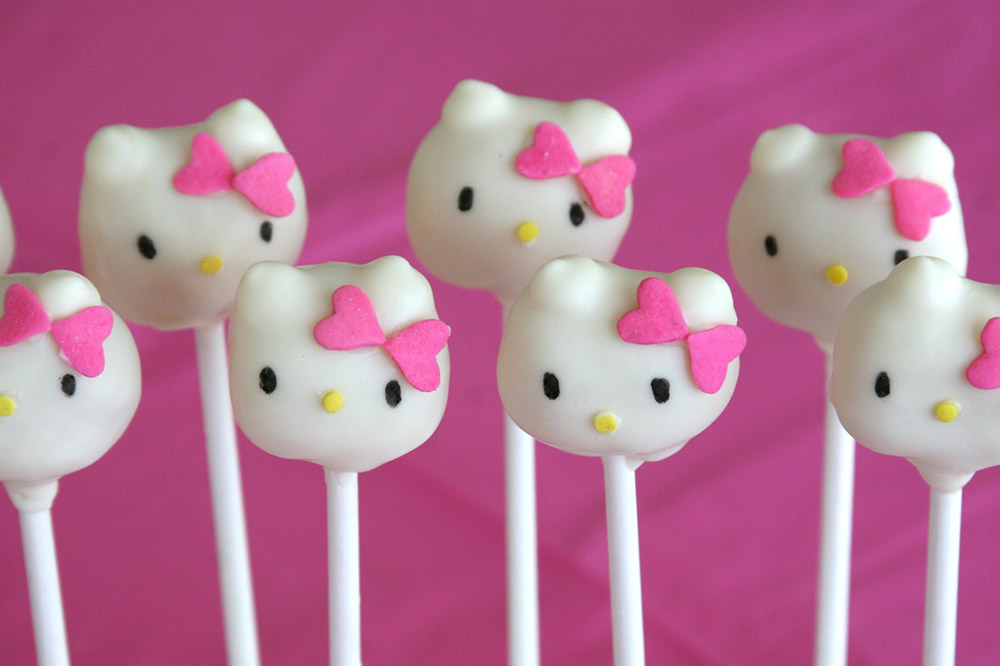 <span>Popcakes de Hello Kitty, ideal para cumples de nenas. </span></p>